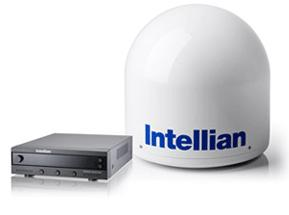 Intellian I series satellite Tv dome for satellite tv on boats, at sea.