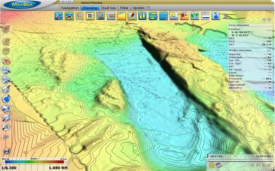 Maxsea timezero software with 3d seabed mapping module