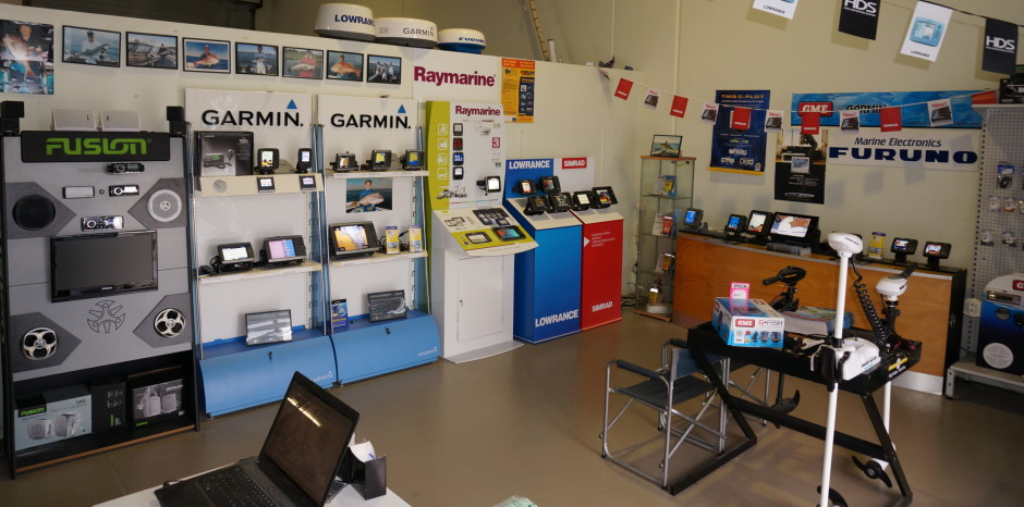 Trymax marine electronics brisbane showroom, onsite installation and repair centre for marine electronics in brisbane