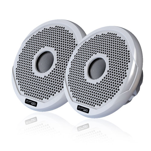 "Fusion MS-FR6021 6"" waterproof marine stereo speakers for boats"