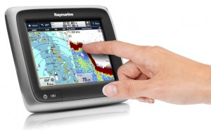 "raymarine A67 5.7"" touch screen chartplotter/fish finder combo unit"
