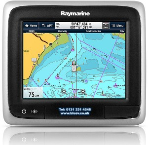 "Raymarine A65 5.7"" touch screen GPS chartplotter"