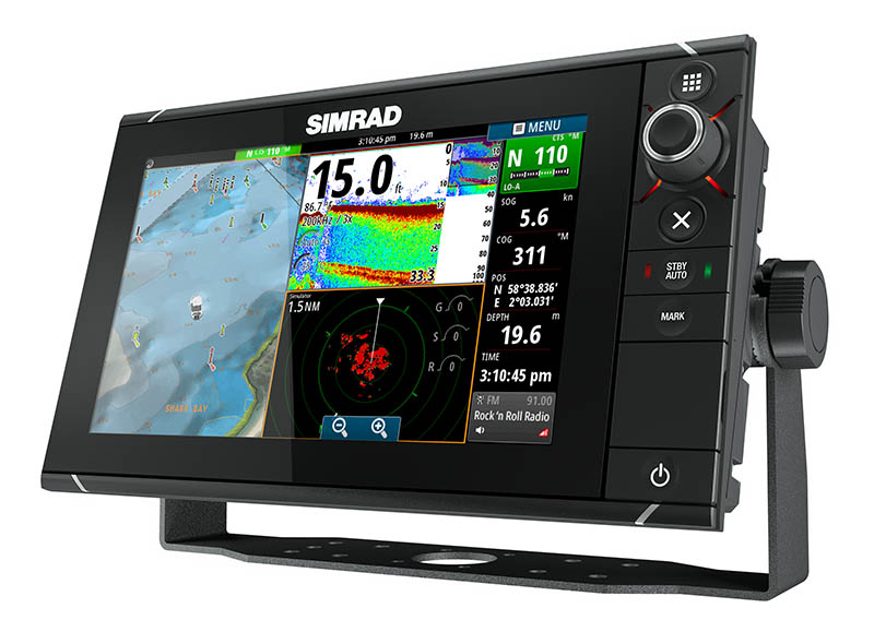 Simrad NSS9 evo2 touch screen GPS/Fish finder MFD